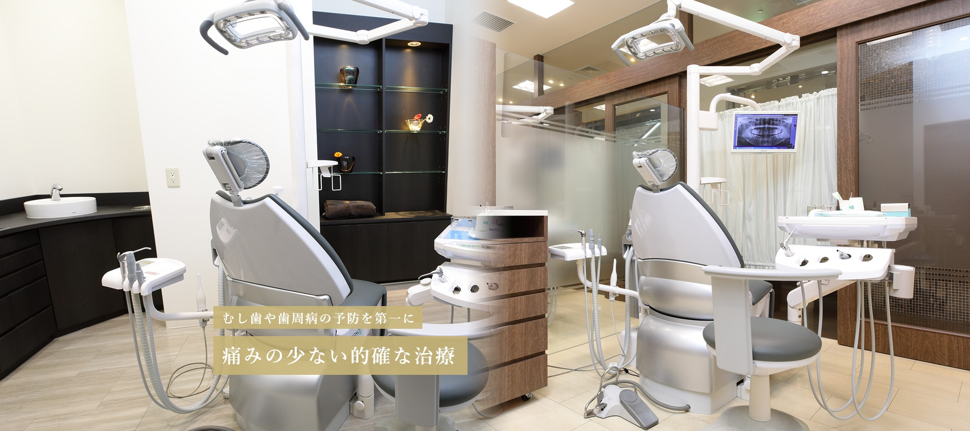 むし歯や歯周病の予防を第一に痛みの少ない的確な治療