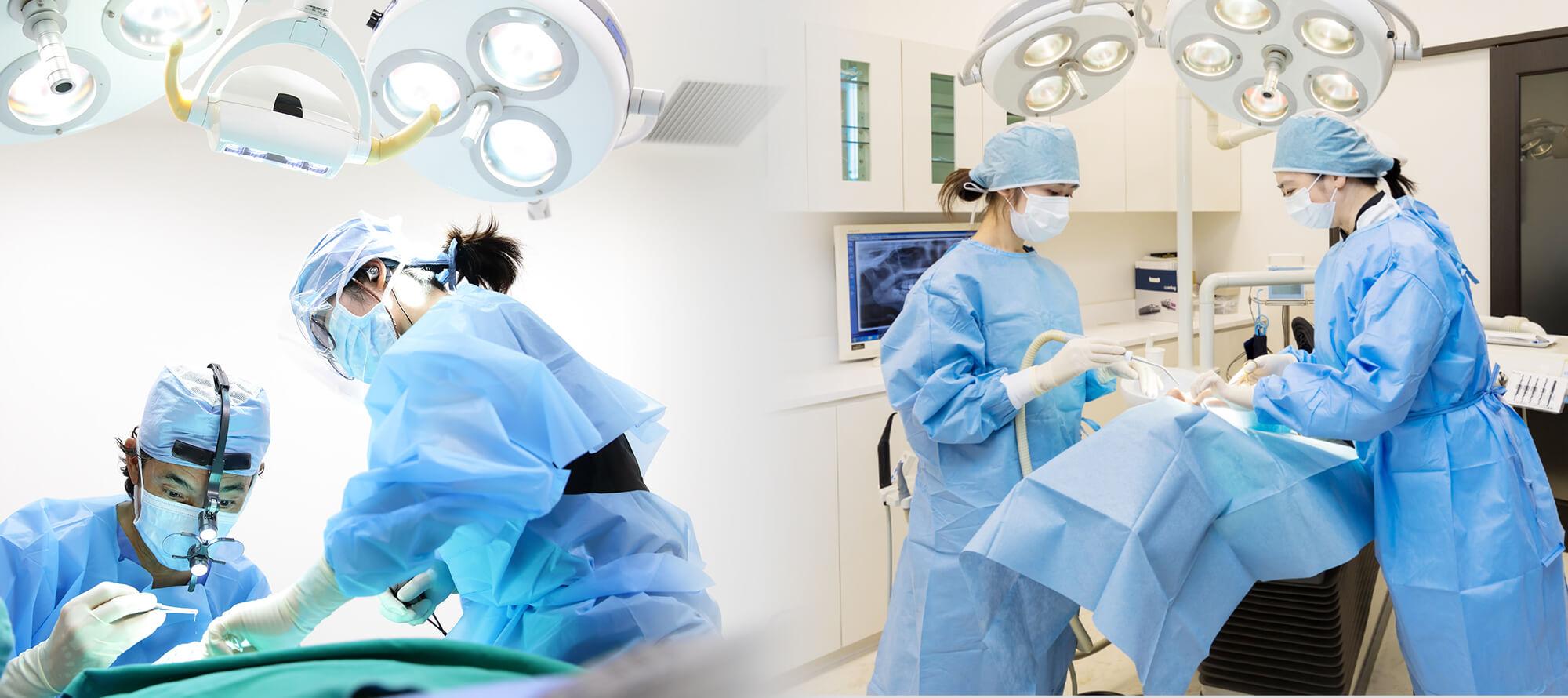 大学病院クラスの設備で審美歯科~インプラント手術まで高度な治療にも対応